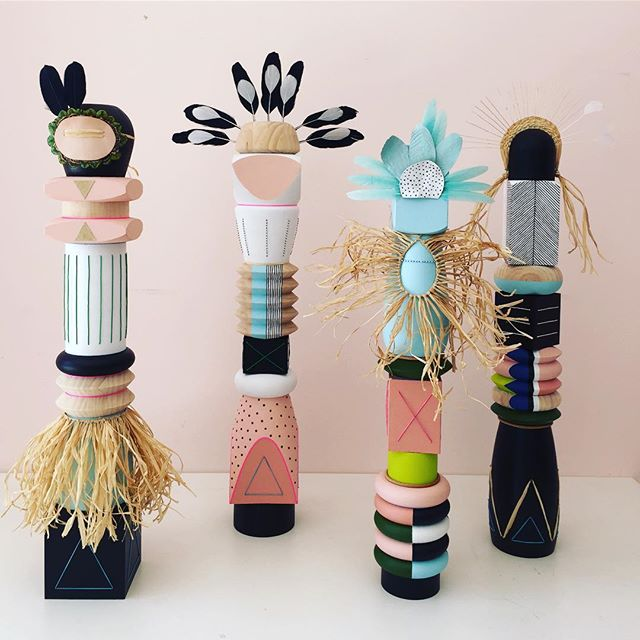 A group of my Spirit People sculptures that are part of my show currently on at Koskela until Nov 6.