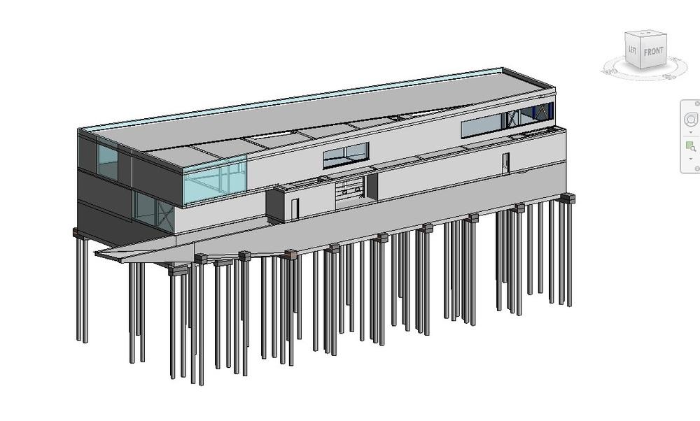 Revit-model, bedrijfsgebouw Merelbeke