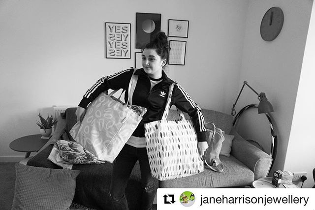 #Repost @janeharrisonjewellery with @get_repost ・・・ R E C O M M E N D  A  M A K E R // #marchmeetthemaker  When I find a maker who's stuff I like I get a bit obsessive and often become a return customer. I met @jillkirkham a few years ago at a creative incubator project ( unfortunately I had to stop because of work) but I fell in love with her designs, I have a few cushions and now I have these beaut bags to fill full of stuff. Head over to @jillkirkham and check out her stuff, you won't regret it! Ps apologies for my messy living room in the background . . . .  #jillkirkham #textiles #handmade #glasgow #design #recommended #janeharrisonjewellery