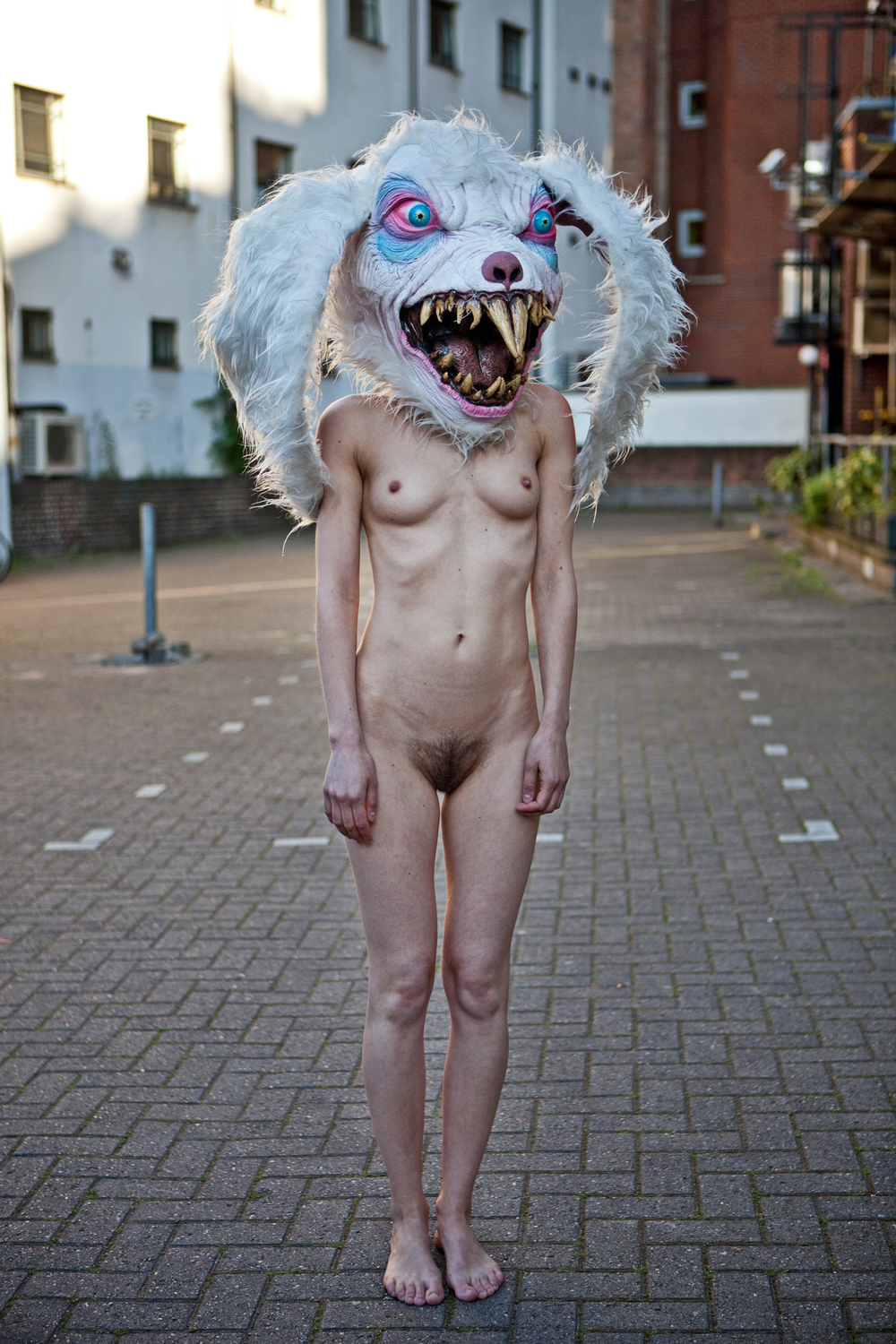 Naked Girls with Masks Photography