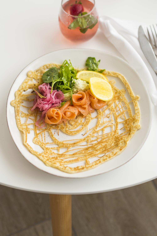Salmon pancake