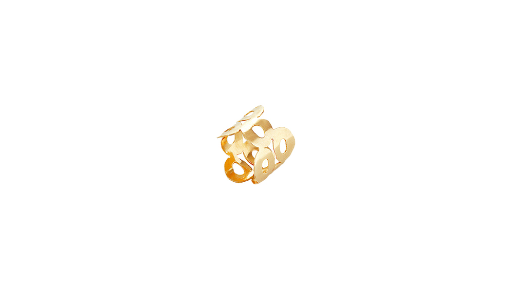 Bague, or jaune 18 carats.