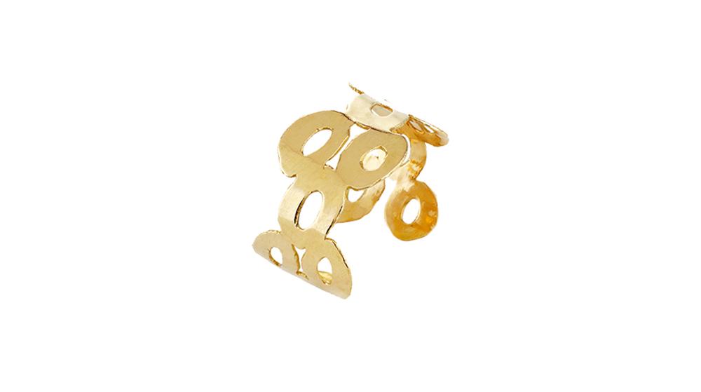 Manchette, or jaune 18 carats.