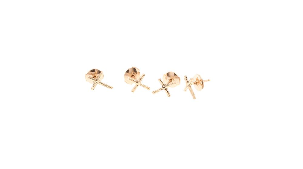 Boucles d'oreilles, or jaune 18 carats