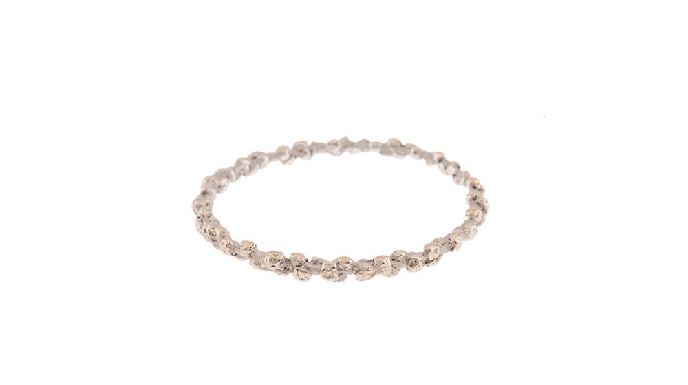 Bracelet, or blanc 18 carats.
