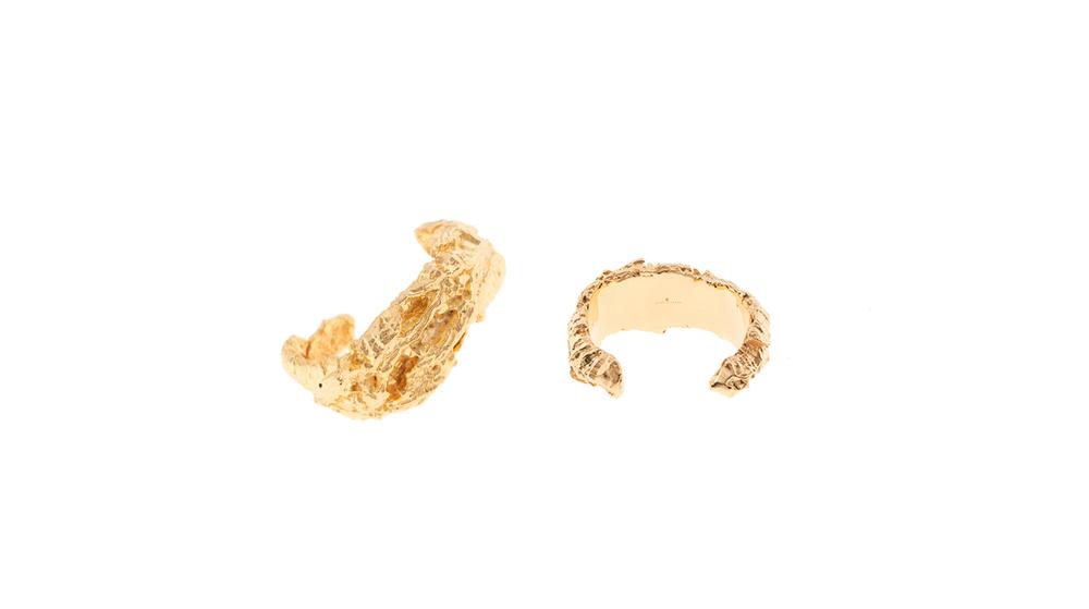 Manchettes, or jaune 9 carats.