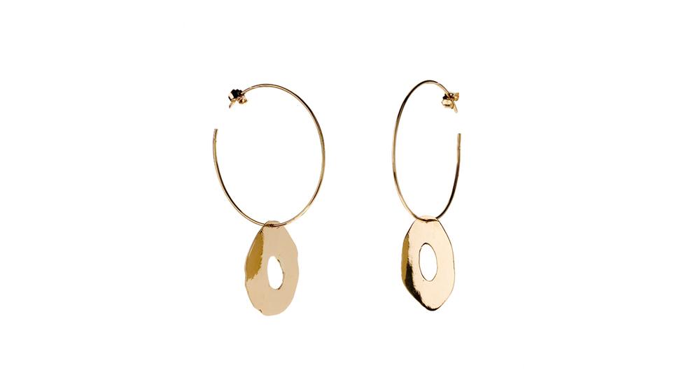 Boucles d'oreilles créoles, or jaune 18 carats.