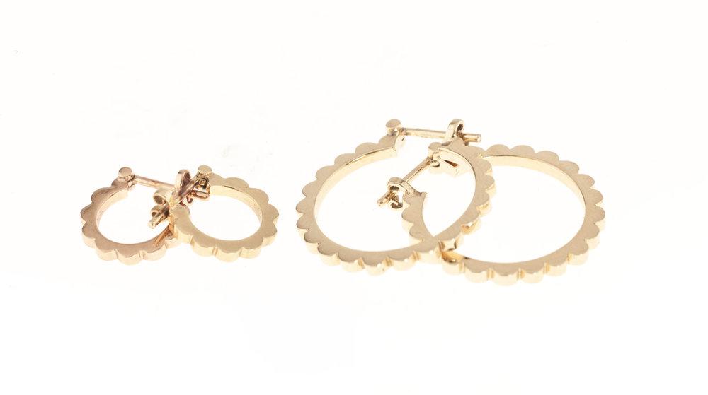 Boubles d'oreilles or jaune 18 carats
