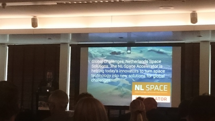The launch of the NL Space Accelerator at European Space Solutions in The Hague. Credit: Design & Data GmbH/Spaceoneers