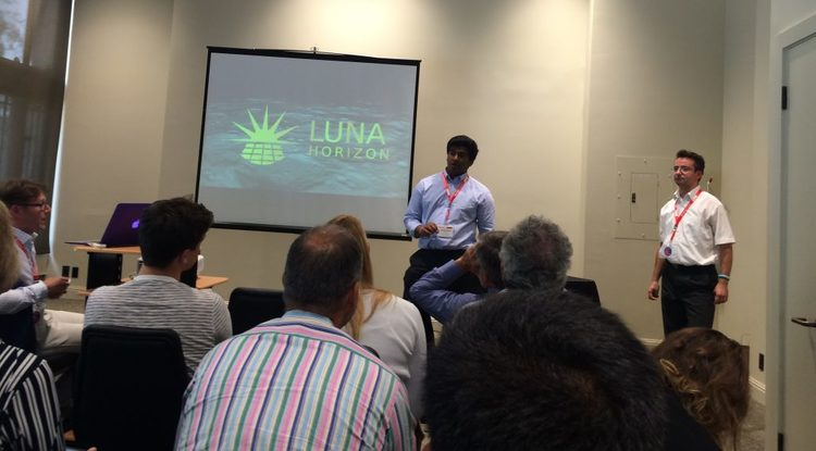 Luna Horizon, one of the winning teams from the Disrupt Space Summit challenges pitching their project