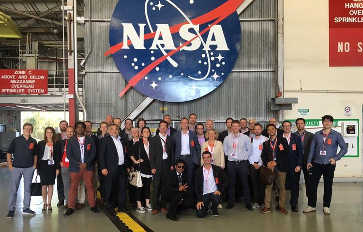 The delegation at NASA Ames Research Center