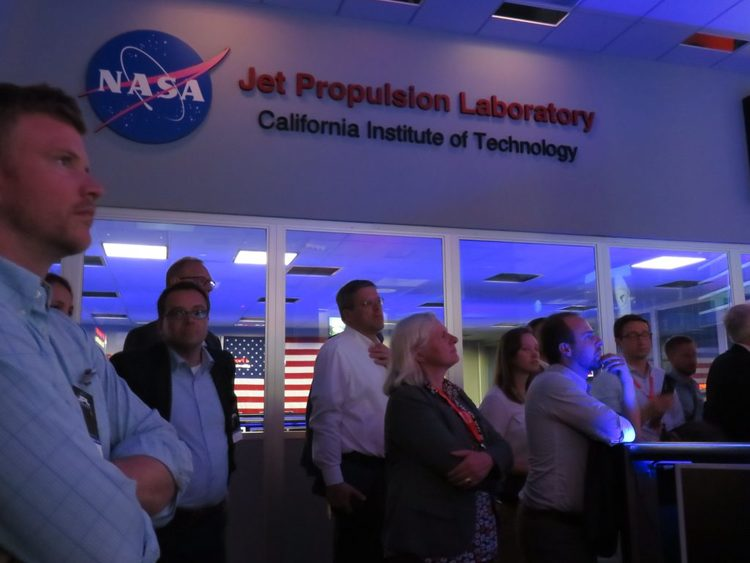 Group touring NASA JPL