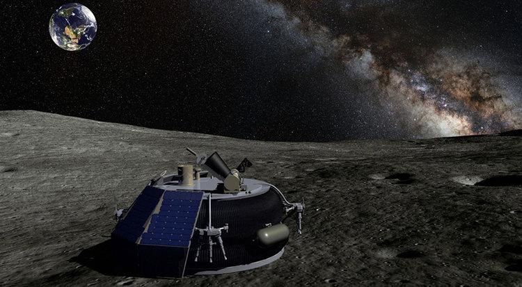 Moon Express's MX-1 lander. Credit: Moon Express artist's concept