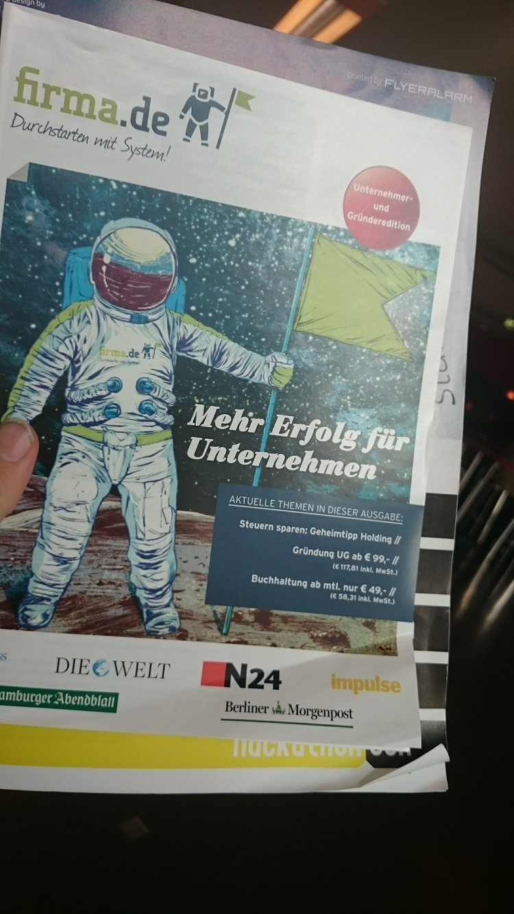 An astronaut spotted on business and startup advertising. Credit: Spaceoneers