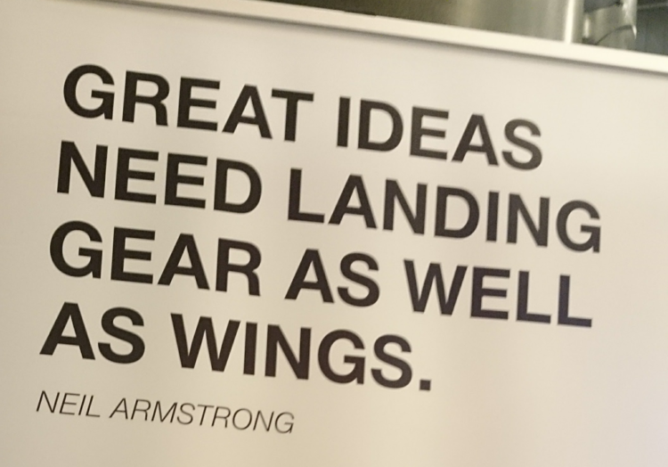 Space-relevant quote spotted at StartupCon via the Rotunda Business Angels. Credit: Spaceoneers