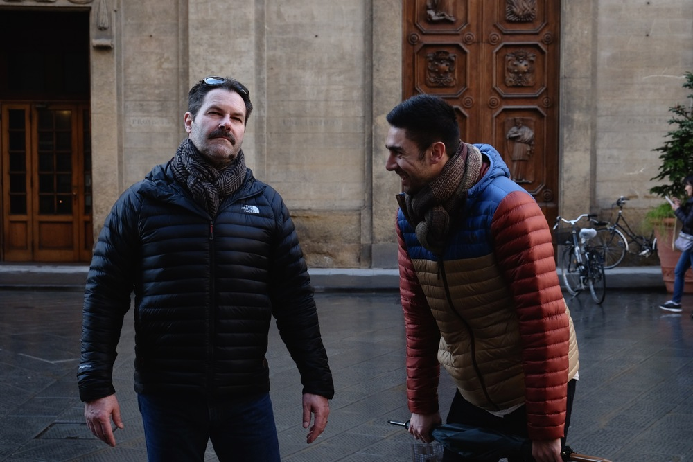 The boys both got scarves in Florence because it was so bloody cold. Taylor liked my Dad's model pose ;)