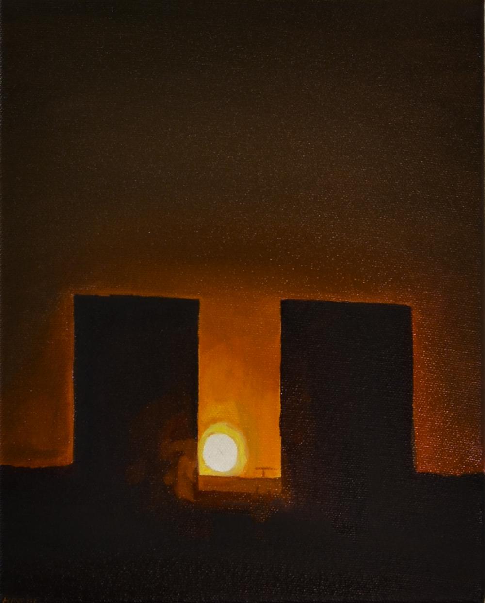 Tower block, night lights, henry byrne