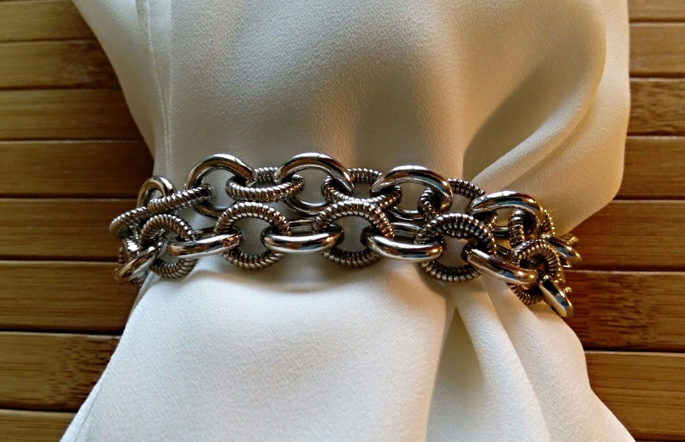 Double up your bracelets, like these from Judith ripka, for a statement look.