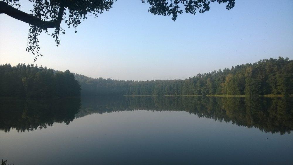 Jezioro, nad którym leży nasz ośrodek
