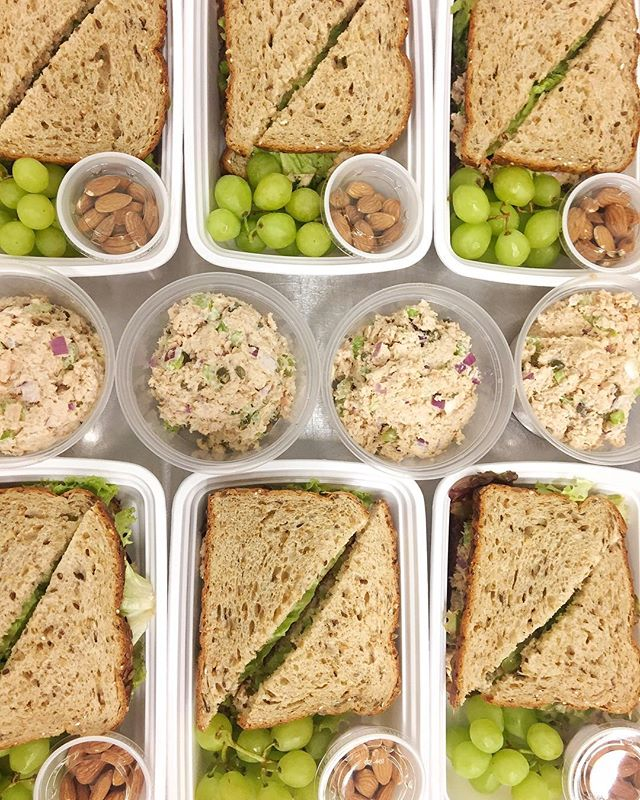Order deadline is 9pm tonight for delivery next week! Check out our salmon salad sandwiches and bulk Paleo salmon salad orders from this week 😍 menu link is in our bio!