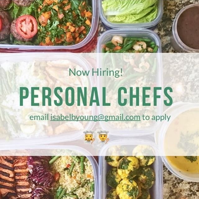 We're now hiring personal chefs! Are you a creative, adaptive cook with a passion for enabling families to eat healthily? We'd love it if you joined our team. Our Personal Chefs work one-on-one with their own clients to plan their menus and prepare their meals on a weekly basis. Email isabelbyoung@gmail.com to apply and to learn more!