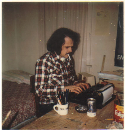 Uncle Fred at Patchen's typewriter. 1970's