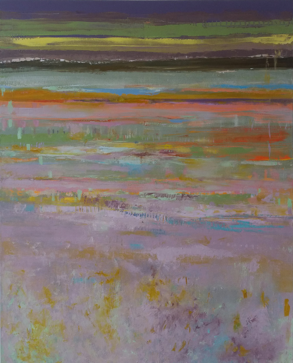 Purple Moor Grass oil on canvas 150 x 120 cm