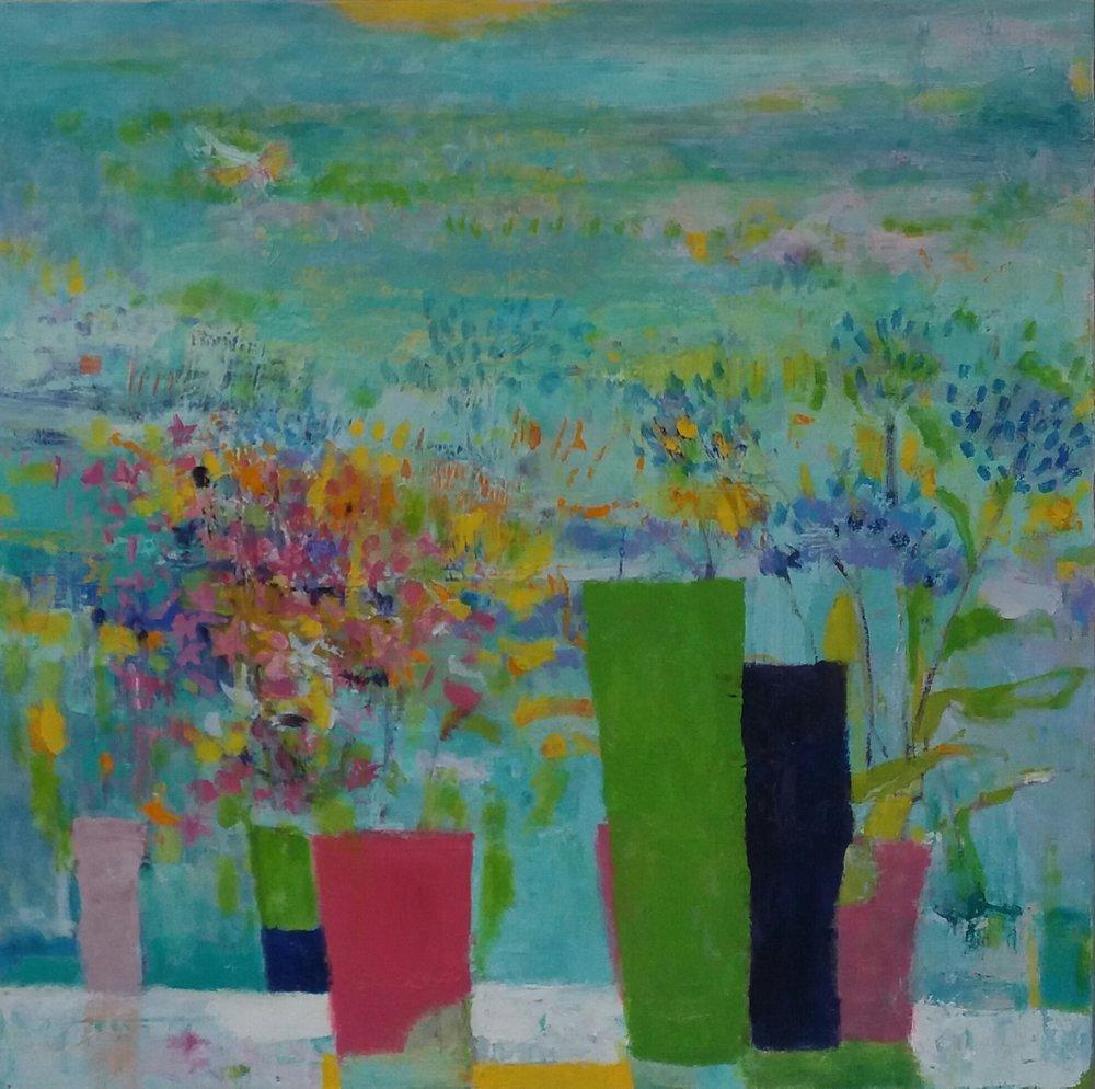Flora by the Coast 70 x 70 cm oil on canvas