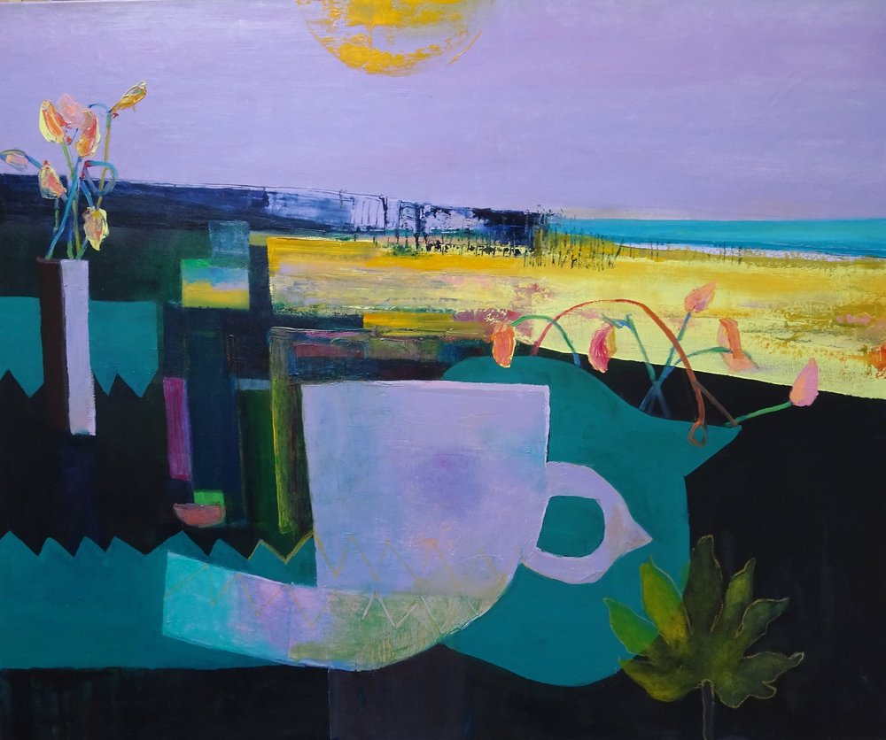 Summer Sorbet Still Life by the Sea  100 x 120 cm oil on canvas