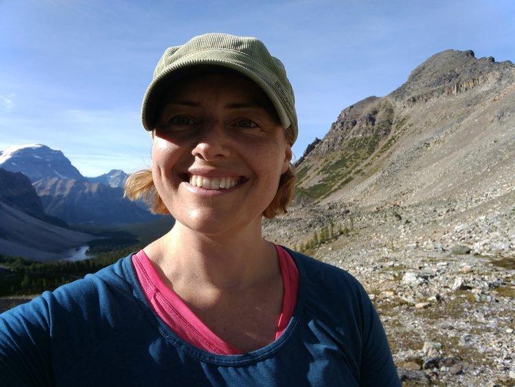 Lydia at Cascade Ampitheatre, Banff, Canada
