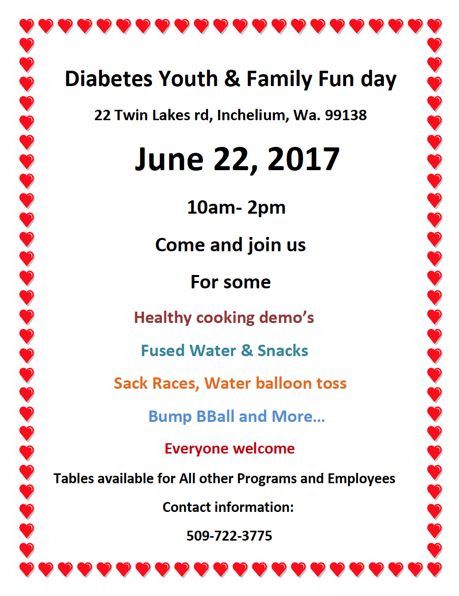 diabetes youth amp family fun day � colville tribes