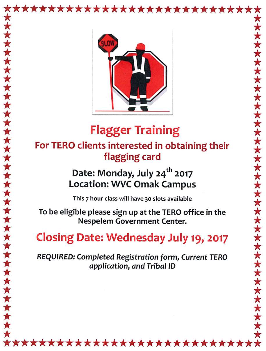 Flagger Training Colville Tribes