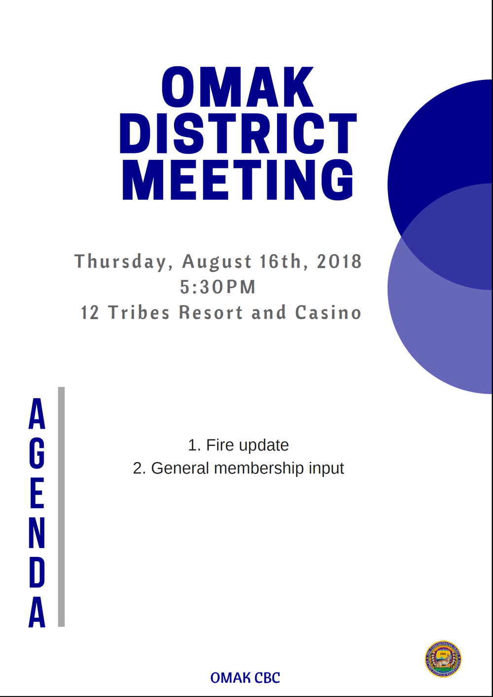 Omak District Meeting