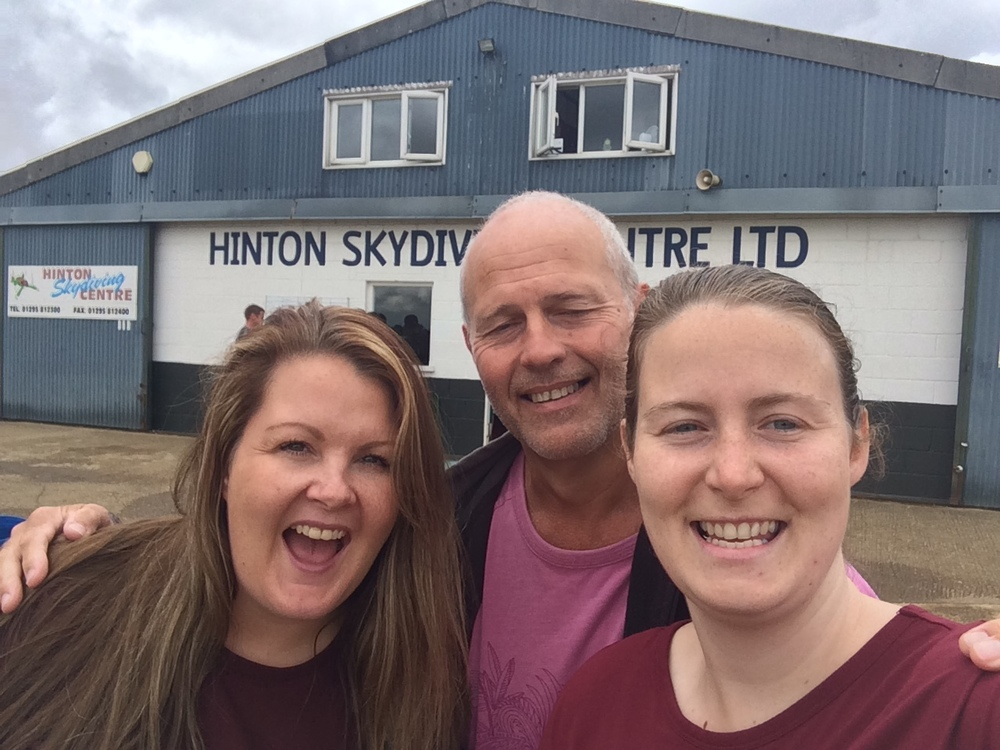 Smiles all round for an amazing skydive!