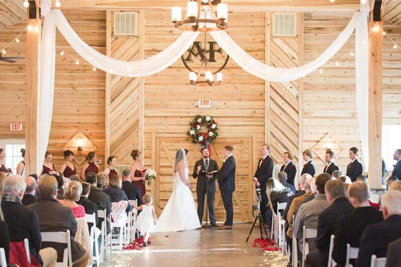 Event Barn ceremony