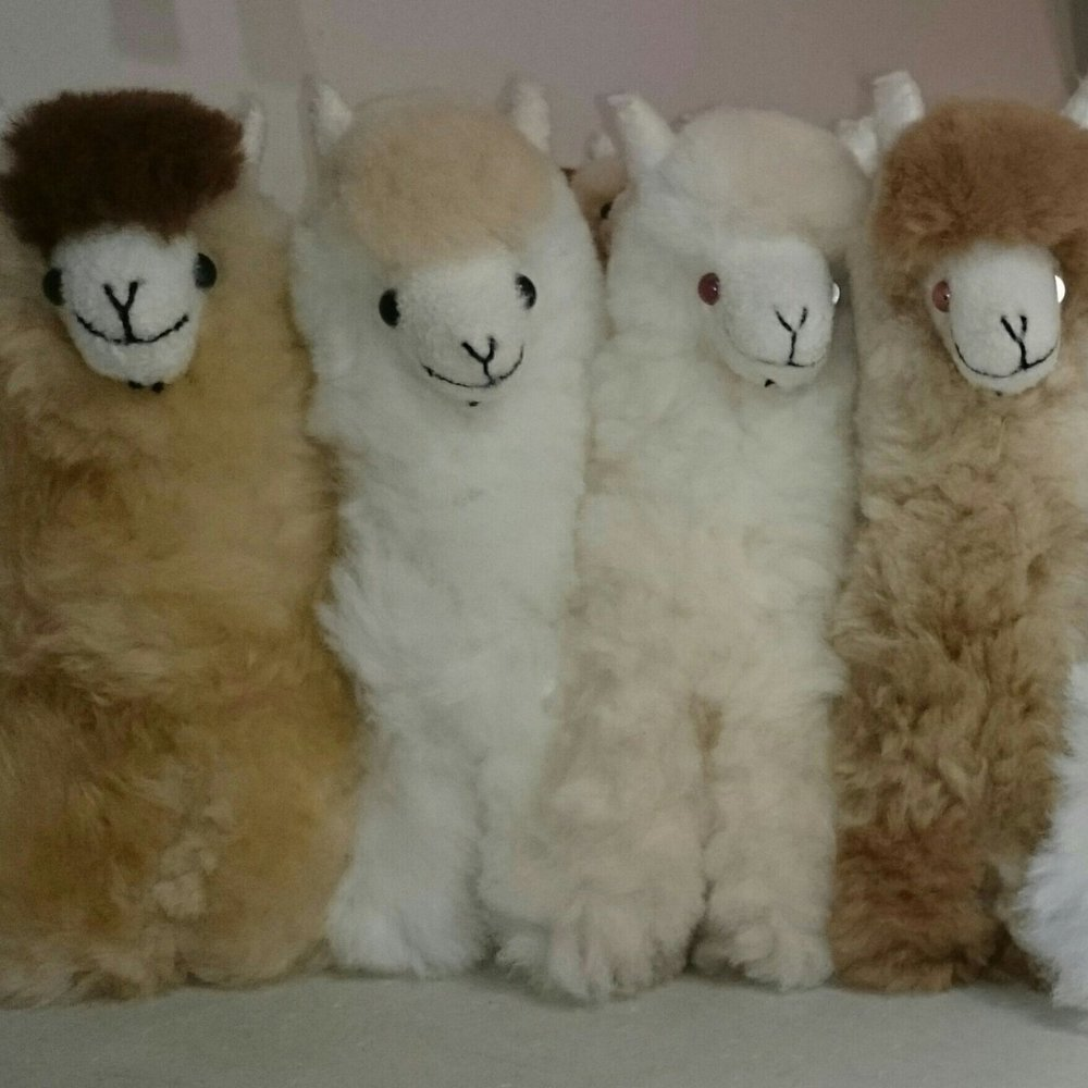 AnAlpaca Figure made from pure alpaca fleece £39 -