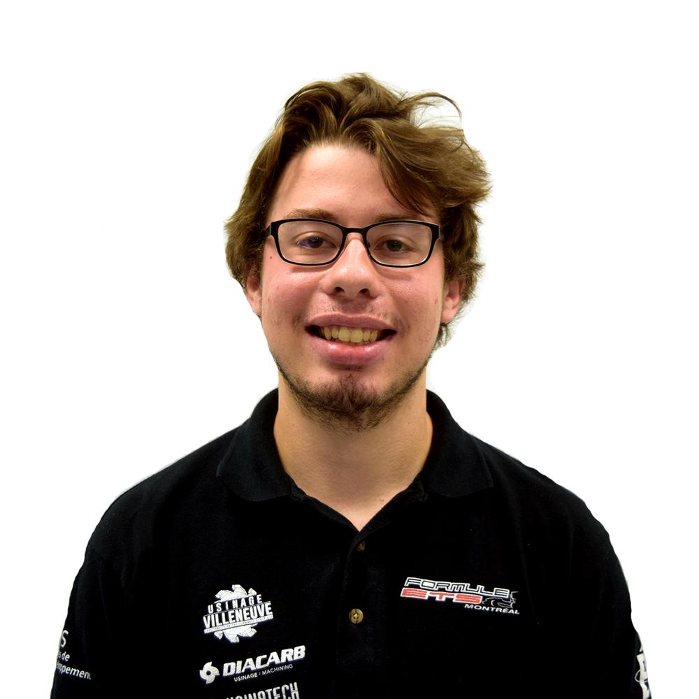 Benjamin Marois Drivetrain Lead b.marois.formule.ets@gmail.com
