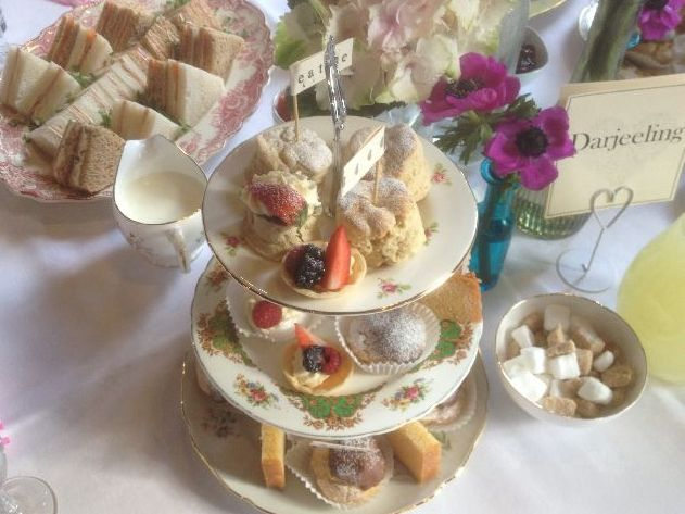 Sample menu: Afternoon tea