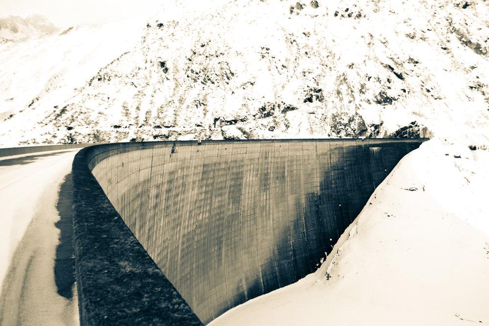 Staumauer Lai da Sontga Maria, Lukmanierpass.  Curdin Albin