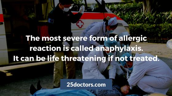 anaphylaxis anaphylactic shock allergy