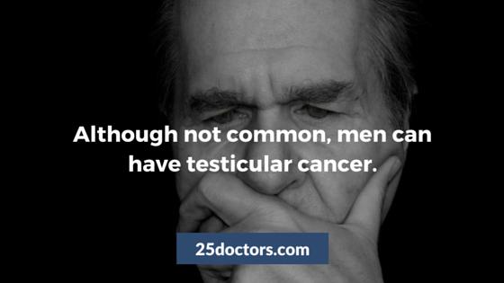 men testicular cancer not common