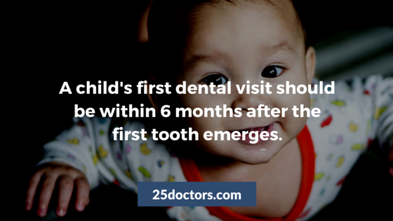 when should a baby first visit the dentist