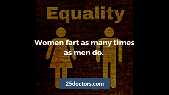 women fart same number of times as men