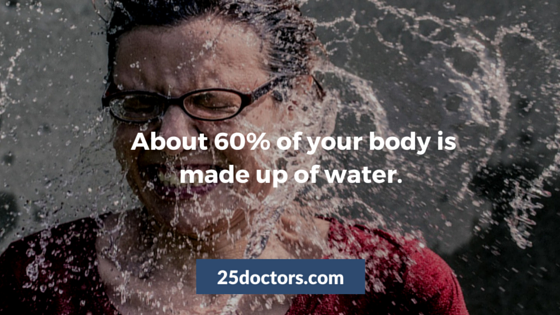 About 60% of your body is made up of water