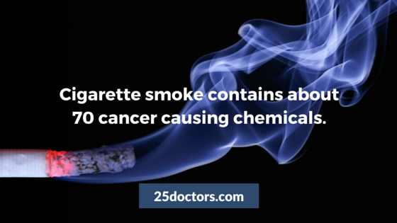 cigarette smoke has 70 cancer causing chemicals