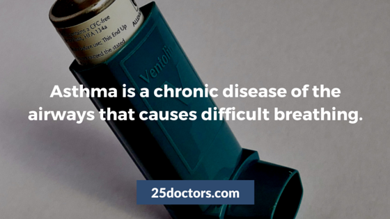 asthma is a chronic disease of the airways that causes difficult breathing