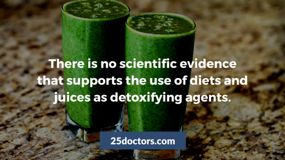diets and juices do not detoxify our bodies