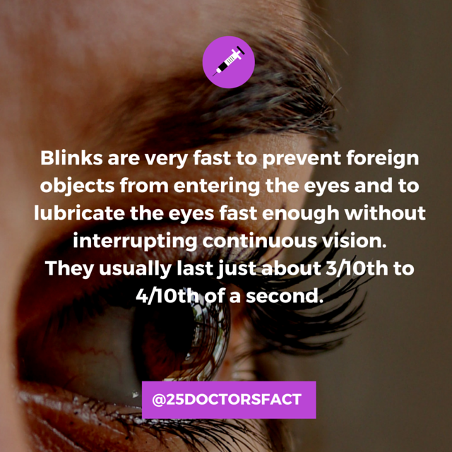 Why and how fast we blink