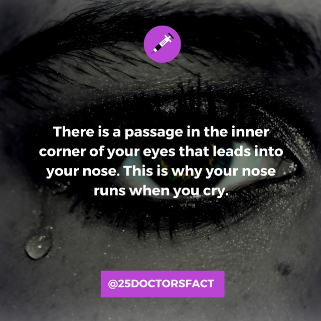 Runny nose when crying