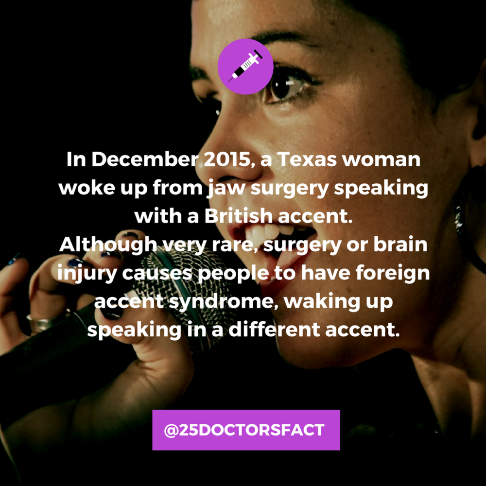 foreign accent syndrome Texas woman